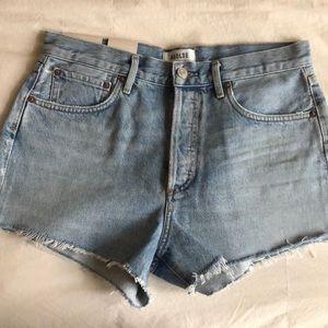 NEW! Agolde Parker Vintage Shorts Riptide